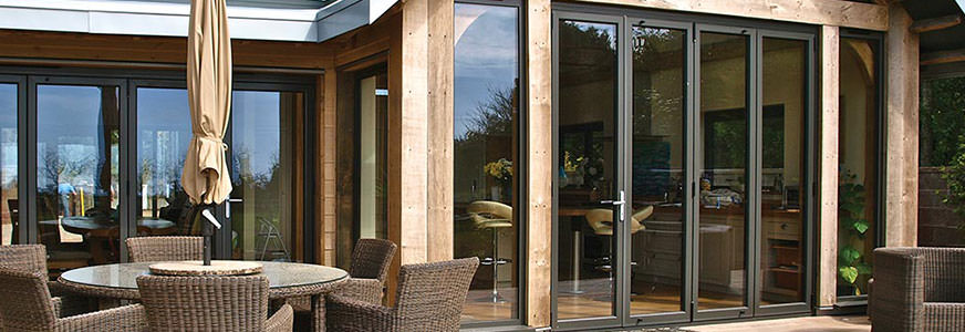 Aluminium Bi-folding doors Eastleigh